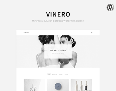 Vinero - Clean and Minimal WP Theme [Awwwards Nominies]