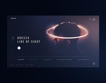 ODESZA | promo website redesign concept UI/UX