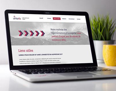 Antarès / Web design / Developpement