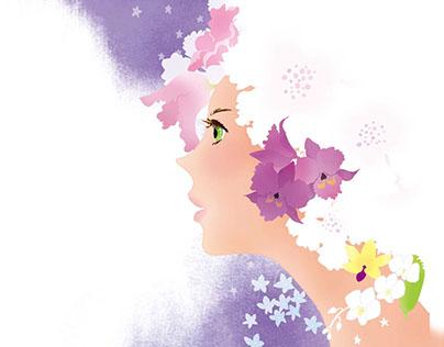 Girl&flower