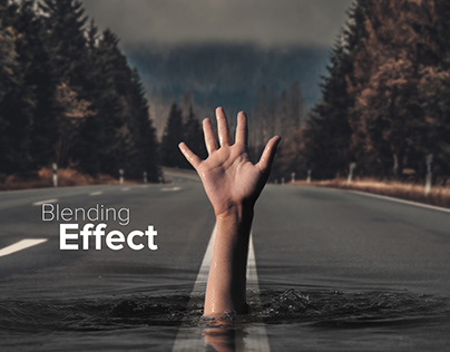 Blending effect on road