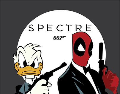 James Bond/Donald Duck/Deadpool Mashup