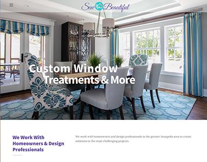 SewBeautifulWindows.com Website Design