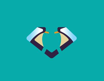 Penguin + Diamond Logo