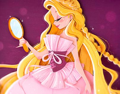 Rapunzel Designer Doll - Paper Cut illustration