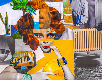 Surreal Retro Advert // Analog Collage
