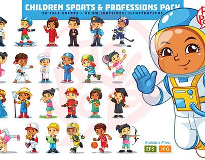 Children Sports & Professions Pack