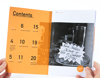 Editorial Booklet:  25 Things I Know About Type