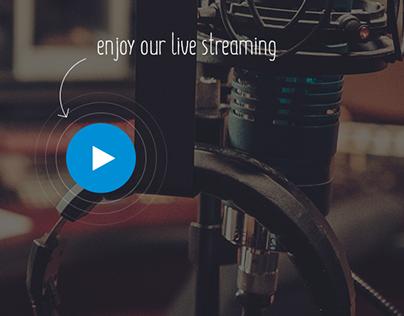 Reklama Radio Website UI/UX Design