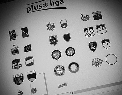 Volleyball | Plus Liga | Minimalist crest redesign