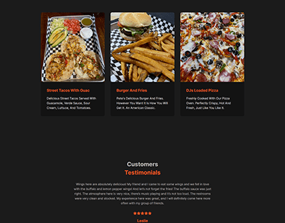 Bar and Grill Website