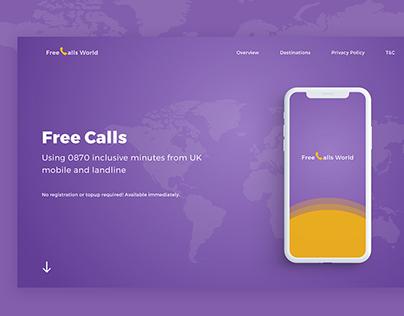 Free Call World Website Mockup