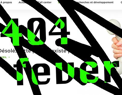 404 Fever - Différents designs de page 404