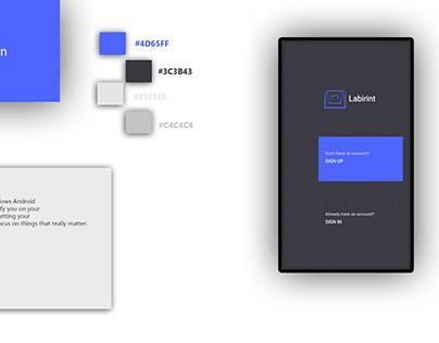 Labirint-planner app