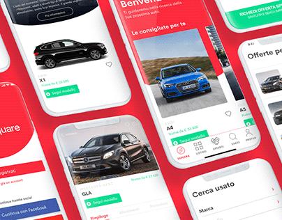 Motorsquare iOS App UI