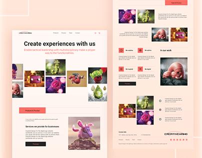 Creative Agency landing page UIUX