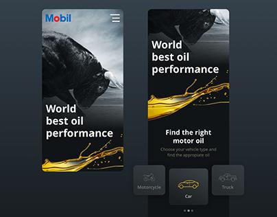 Motor Oil Mobile / Dark Concept