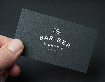 "Logo and identity for ""THE BAR BER SHOP"""