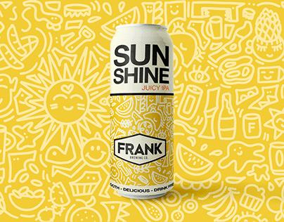 SUNSHINE - beer can design for Frankbeer.co