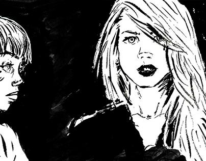 Sketchbook Ink Girls