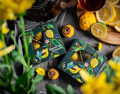 Tea in citrus