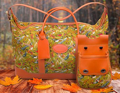 Publicité pour une gamme de sac