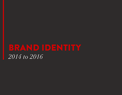 Brand Identity   2014 to 2016