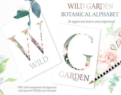 WILD GARDEN - FREE BOTANICAL ALPHABET