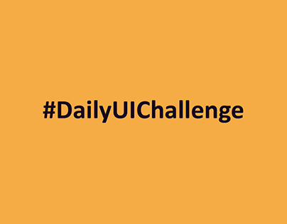 DailyUIChallenge