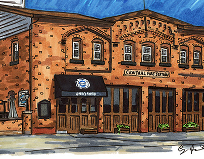 Firehouse Tap and Grille Urban Sketch