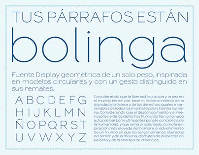 Bolinga Font