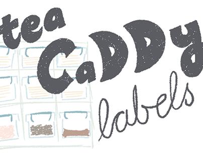 tea caddy labels