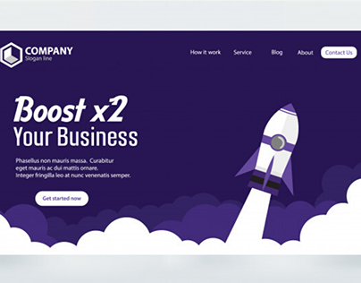 Booster Landing Page Design Collection Vol.1