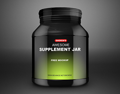 Supplement Jar Free Mockup