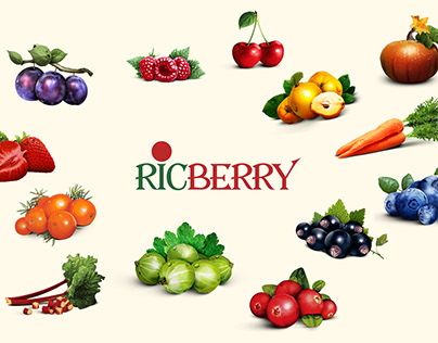 Landing page for the berry product company – Ricberry