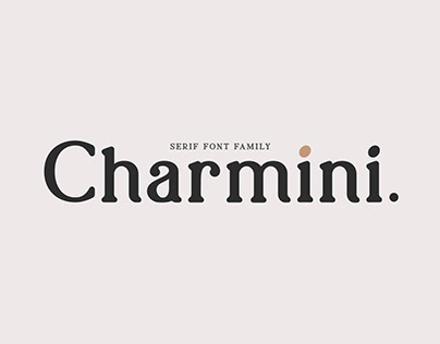 Charmini. Serif font family.