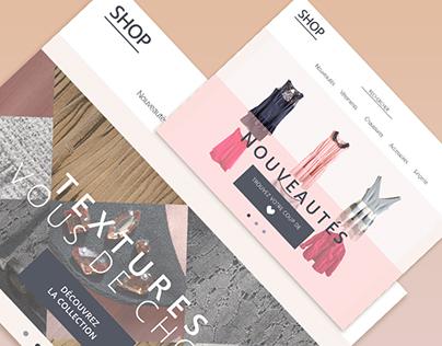 Layout concept - Boutique mode
