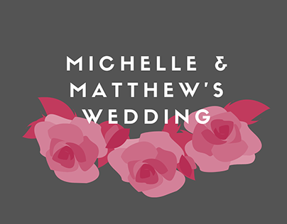 Pink Rosy Wedding RSVP and Invitation Cards