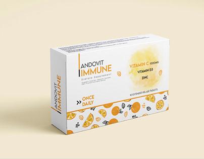 Andovit Immune branding box