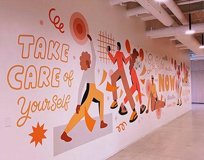 Pluralsight Wellness Mural