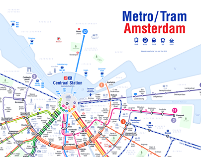Subway Map Of Amsterdam.Metro Map Amsterdam On Behance