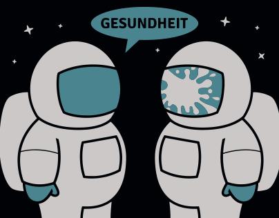 Space Sneeze t-shirt