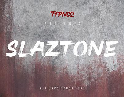 Free Slaztone Brush Font