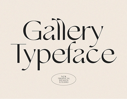 Gallery Typeface