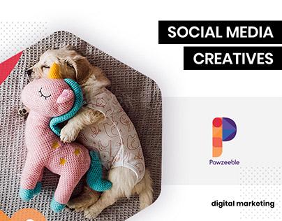 Social media designs for Pawzeeble by BrandzGarage