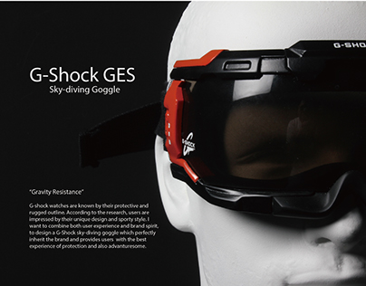 G-Shock GES - sky-diving goggle for extreme sport