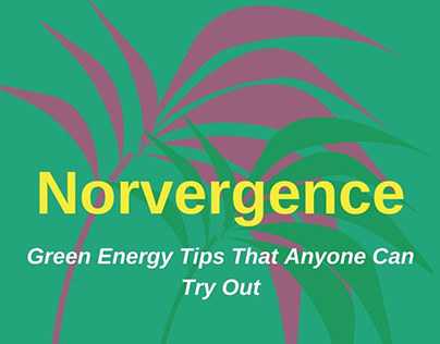 Norvergence - Green Energy Tips That Anyone Can Try Out