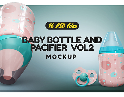 Baby Bottle and Pacifier Vol.2 Mockup