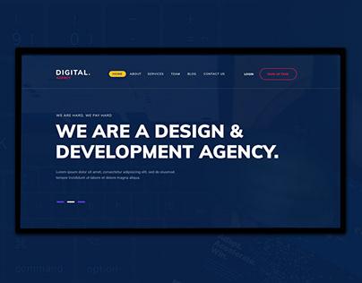 Digital Agency - Web Layout