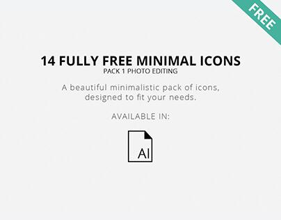 Free Minimal Photo Editing Icons